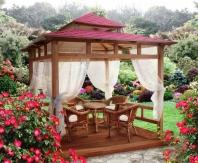 садовая беседка в восточном стиле