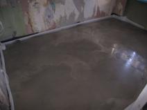 монтаж цементно песчаной стяжки