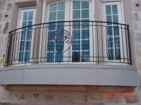 Дугообразная ковка французского балкона