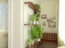 Оформление совмещенной с комнатой лоджии цветами