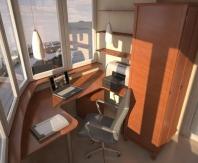 Удачное решение для просторного  балкона офиса