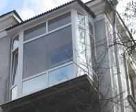 Пример крыши балкона на последнем этаже