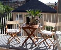 Складная деревянная мебель для открытого балкона