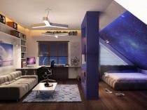 Зонирование жилого пространства мансарды