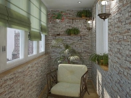 Декоративный камень сегодня достаточно поулярен в отделке балконов