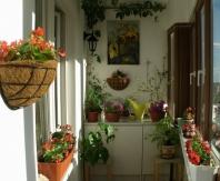 Вазоны помогут создать на балконе зону для отдыха