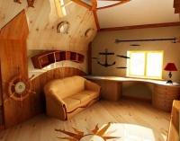 Мансардный этаж в морском стиле