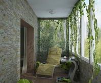 Интересный дизайн балкона комнаты