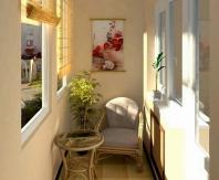Вариант комнаты отдыха для небольшого балкона
