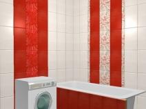 пример раскладки плитки в ванной