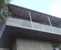 Пример выносного балкона по плите