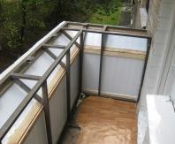 Расширение балкона по подоконнику и подготовка к остеклению