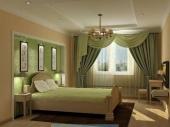 шторы в спальню с ламбрекеном