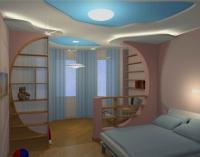 Благодаря балкону одна комната превратилась в две - детскую и спальню