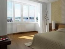 Присоединение лоджии к спальне с выносом батареи