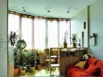 Зимний сад на совмещенной с комнатой лоджии