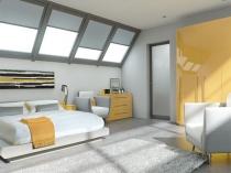 Естественное освещение в спальне на мансардном этаже